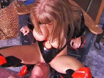 Candy cottons smothering anguished chamber 0. Dominatrix Candy Cotton ties her victim to cross and smothers him with her massive tits.  She forces him to the ground, stands above him and gets herself off.  Candy Cotton continues to humiliate her slave by ordering him to lick her vagina juice covered